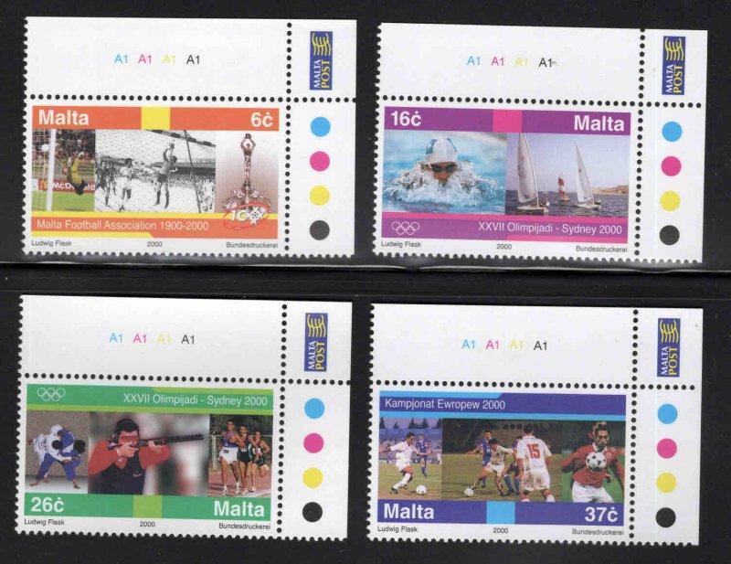 MALTA  Scott 1007-1010 MNH** 2000 Olympic Sports set