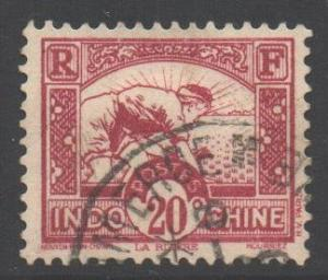 Indo-China SG186, 1931 Worker in Rice Field 20c used