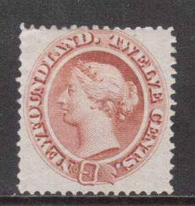 Newfoundland #28a Very Fine Mint Hinged Thin Yellowish Paper