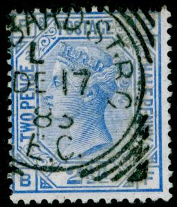 SG157, 2½d blue PLATE 23, USED. Cat £32. BF
