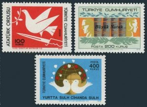 Turkey 2044-2046,MNH.Michel 2404-2406. Works and Reforms of Ataturk.1976.