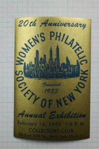Women's Philatelic Society WPS NY Collectors Club Exhibit 1953 show souvenir ad