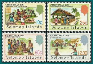 Solomon Islands 1991 Christmas, MNH #699-702,SG703-SG706