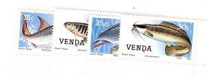South Africa (Venda), 169-72, Freshwater Fish Singles, MNH