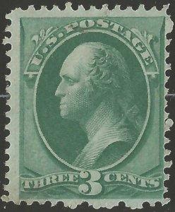 US Sc 147 3c Green Unused,Mint,No Gum F-VF Cat. $275.00