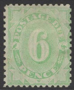 AUSTRALIA SGD50 1908 6d GREEN POSTAGE DUE MTD MINT