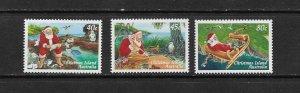 CHRISTMAS ISLAND #407-9   CHRISTMAS 1997  MNH
