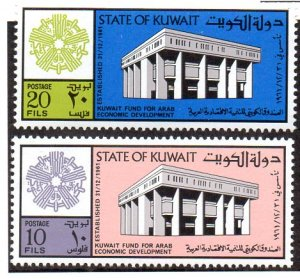 KUWAIT 618-9 MNH SCV $1.80 BIN $1.10 ECONOMIC DEVELOPMENT