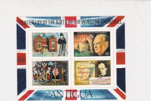 Antigua Flag Style Quotes Sir Winston Churchill MNH Mini Stamps Sheet Ref 27112