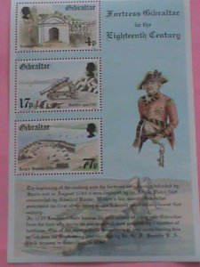 ​GIBRALTAR -STAMP-1983-FORTRESS GIBRALTAR IN THE 18TH CENTURY -MNH STAMP SHEET