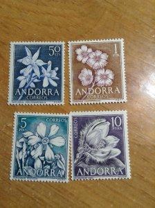 Andorra  (Spanish)  # 58-61  MNH