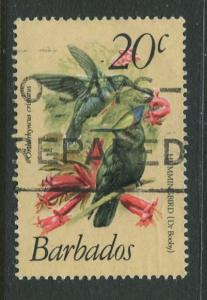 Barbados - Scott 501 - Birds ssue - 1979-81 - Used - Single 20c Stamps