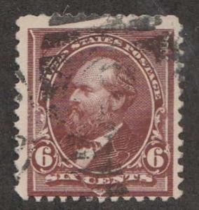 U.S. Scott #256 Garfield Stamp - Used Single