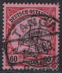 GERMAN EAST AFRICA 1905 YACHT 60H WMK LOZENGES USED