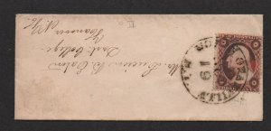 $US Sc#26a North Granville NY tiny Ladies Cover