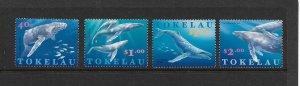 WHALES - TOKELAU #238-41  MNH
