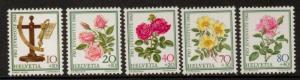 SWITZERLAND SGJ278/82 LETTER BALANCE AND ROSSES  MNH