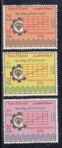 Kuwait Scott #499-501 MH