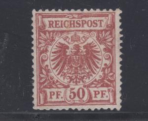 Germany Sc 51a regummed. 1889 50pf copper brown Coat-of-Arms