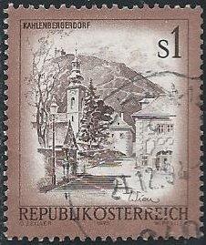 Austria 959 (used, creased) 1s Kahlenbergerdorf (1975)