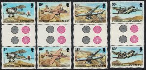 Ascension Wideawake Airfield Gutter Pairs TL 1982 MNH SC#309-312 SG#318-321
