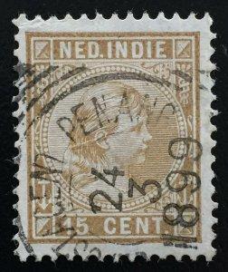 Malaya POSTAGENT PENANG pmk SCARCE on 15c Nederlands Indies1899