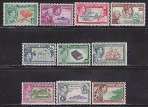 Pitcairn Is Scott # 1-8 VF previously hinged set nice colors cv $63 ! see pic !