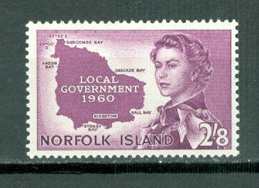 NORFOLK MAP  #42...MNH...$14.00