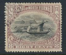 North Borneo SG 102b Used perf 14½ x 15  see details & scans