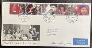 GB #1440a (#1436-1440) Used F/VF FDC - 40th Ann. Queen Elizabeth 1992 [CVR208]