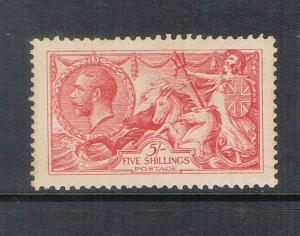 GB 1913 KGV sea horse 5/- SG 401 MNH