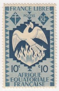 French Equatorial Africa, Scott #143 (1), MH