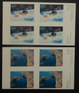 Norway 1294-95. 2001 Sports, booklet panes of four, NH
