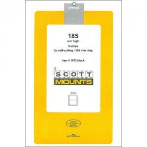 Scott/Prinz Pre-Cut Strips 265mm Long Stamp Mounts 265x185 #1073 Black