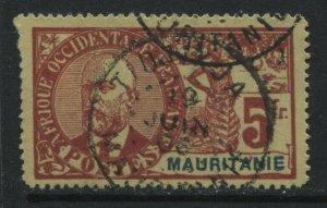 Mauritania 1906 5 francs used