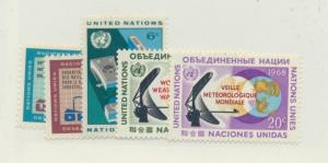 United Nations (New York) Scott #185 To 189 From 1968 - Free U.S. Shipping, F...