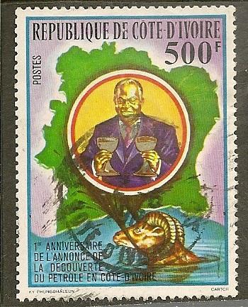 Ivory Coast Scott  484   President   Used Single from Sheet