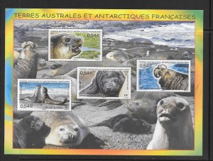 FRENCH SOUTHERN ANTARCTIC TERRITORY #406 (MS)  MNH