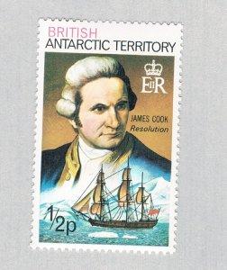 British Antarctic Territory Capt Cook brown 1/2p (AP132410)