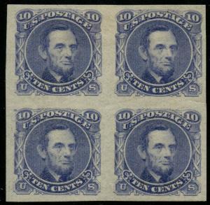 #116-E1k 10¢ 1869 PLATE ESSAY ON STAMP PAPER VF-XF -- MINT OG LH -- HW1821