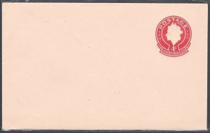 AUSTRALIA QE 4c envelope on cream stock - fine unused......................53772
