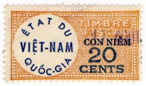 (I.B) Vietnam Revenue : Duty Stamp 20c