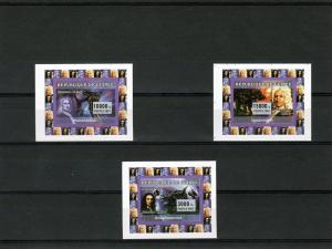Guinea 2007 E.Halley/Giotto Halley's Comet/Dinosaurs (3) SS MNH VF