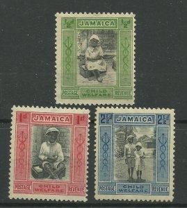 JAMAICA 1923 Set of 3 Child Saving League, Sg 107-107c, M/Mint. {B9-61}