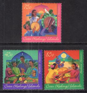 Cocos Keeling Islands 316-318 MNH VF