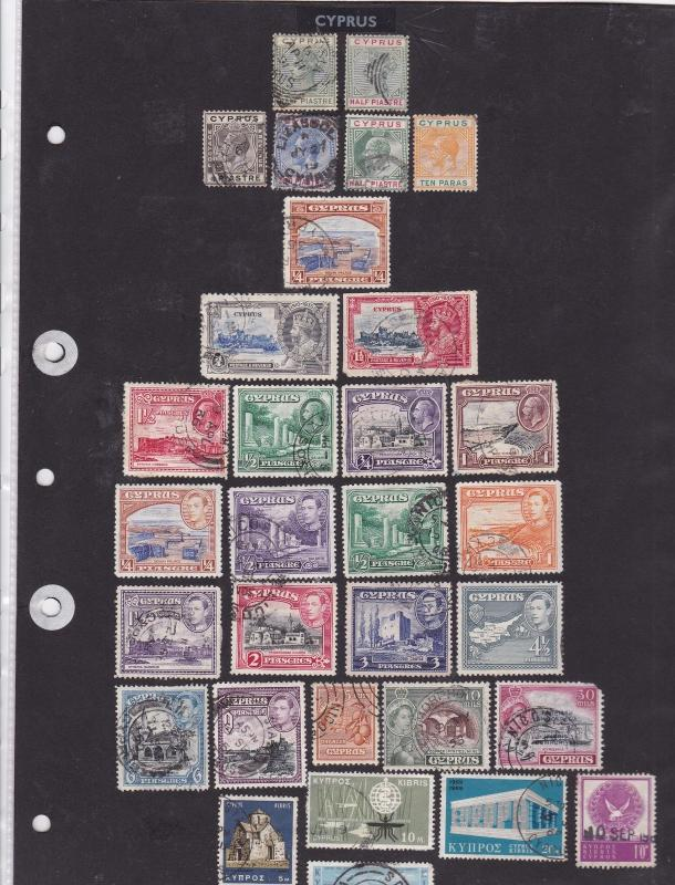 cyprus mounted mint+used stamps ref 11981