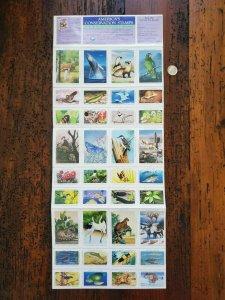 US 1990 National Wildlife Federation Mint Cinderella Stamp Sheet OG NH