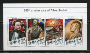 SIERRA LEONE 2018  135th ANNIVERSARY OF ALFRED NOBEL SHEET  MINT NH