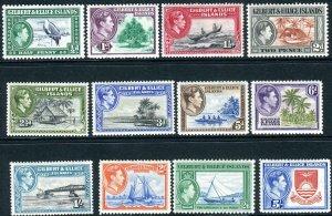 GILBERT & ELLICE ISLANDS-1939-55 LMM SET to 5/- Sg 43-54 few toned perfs V42757