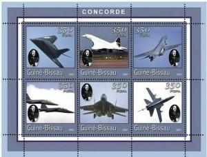 Guinea-Bissau MNH S/S Concorde Planes 2001